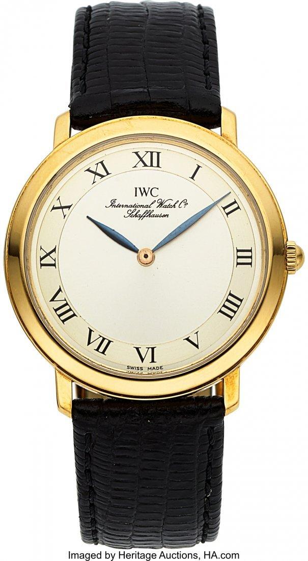 "54018: IWC 18k Gold ""Romain"" Ref. 2009 Ultra-Thin Watch"
