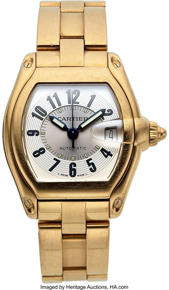 54104: Cartier 18k Yellow Gold Ref. 2524 Gent's Roadste