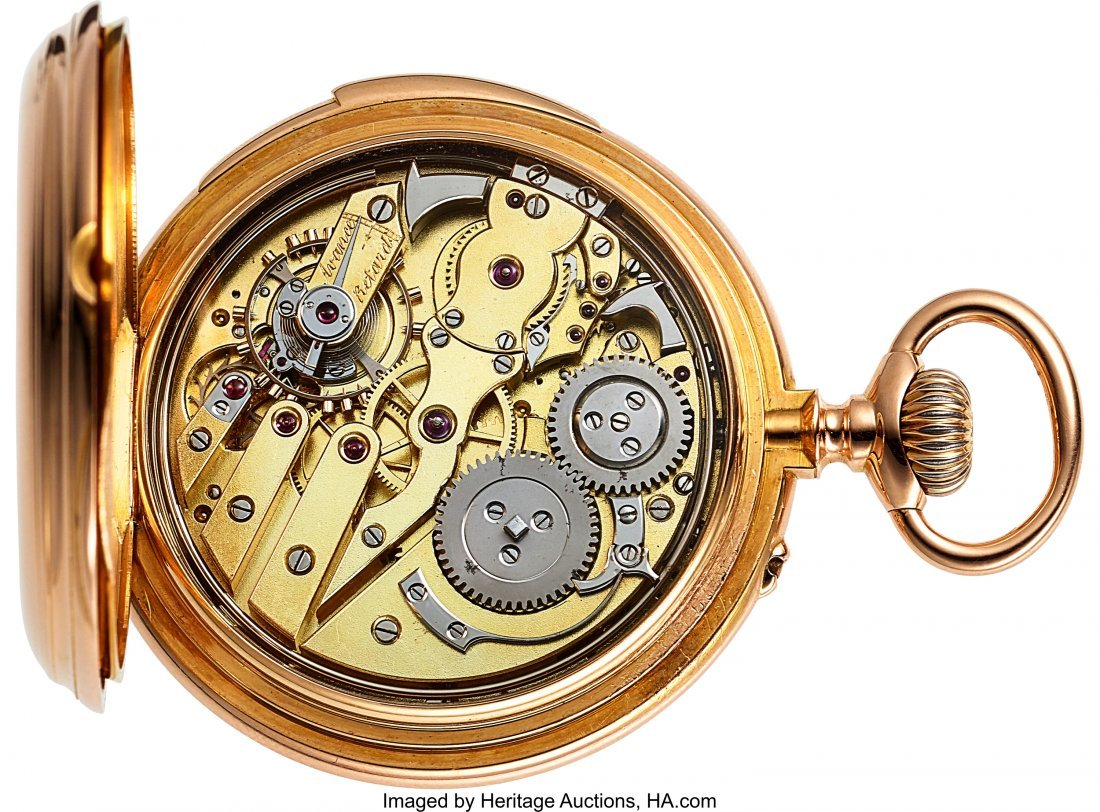 54366: Swiss High Grade 18k Gold Minute Repeater, circa - 3