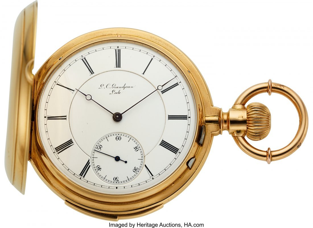 54367: L.C. Grandjean Locle 18k Gold Five Minute Repeat