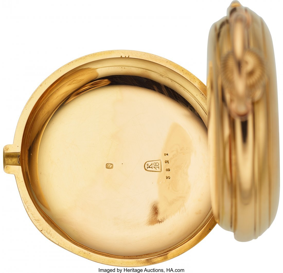 54367: L.C. Grandjean Locle 18k Gold Five Minute Repeat - 5