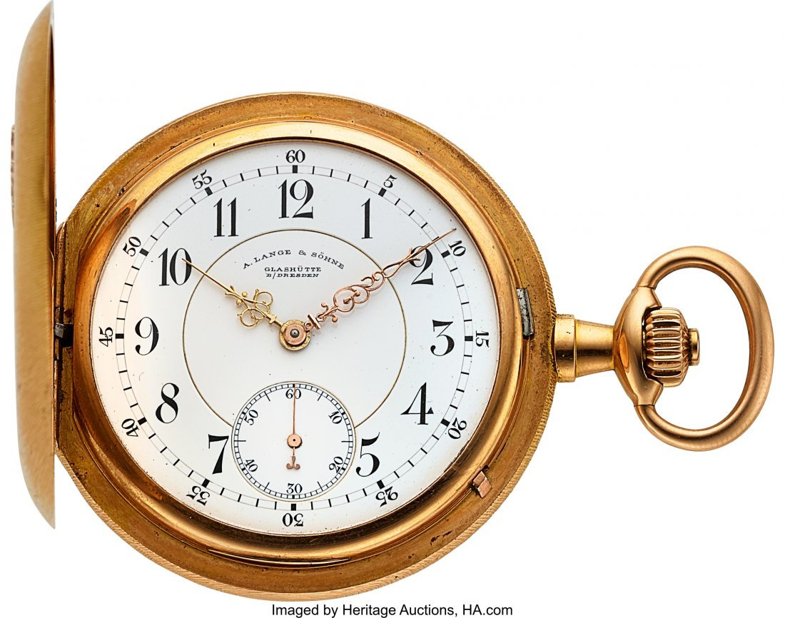 54368: A. Lange & Söhne 18k Gold Hunter Case Watch, ci