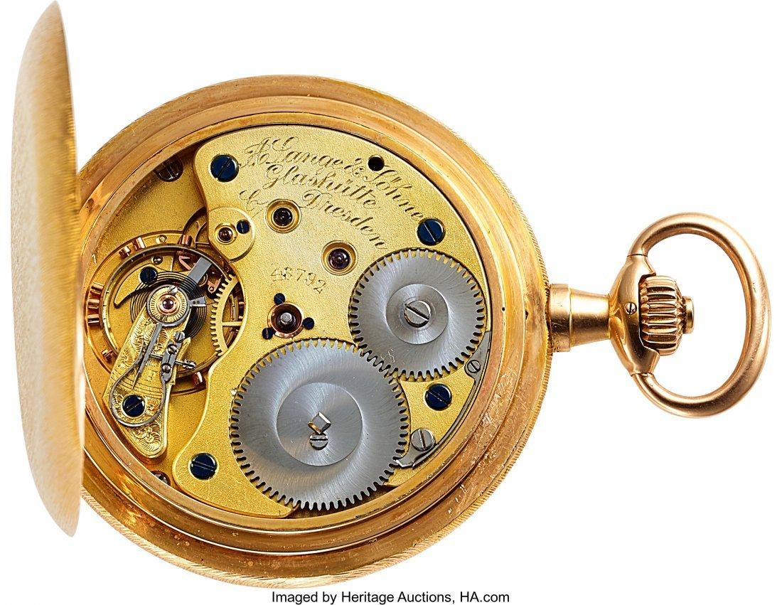 54368: A. Lange & Söhne 18k Gold Hunter Case Watch, ci - 3