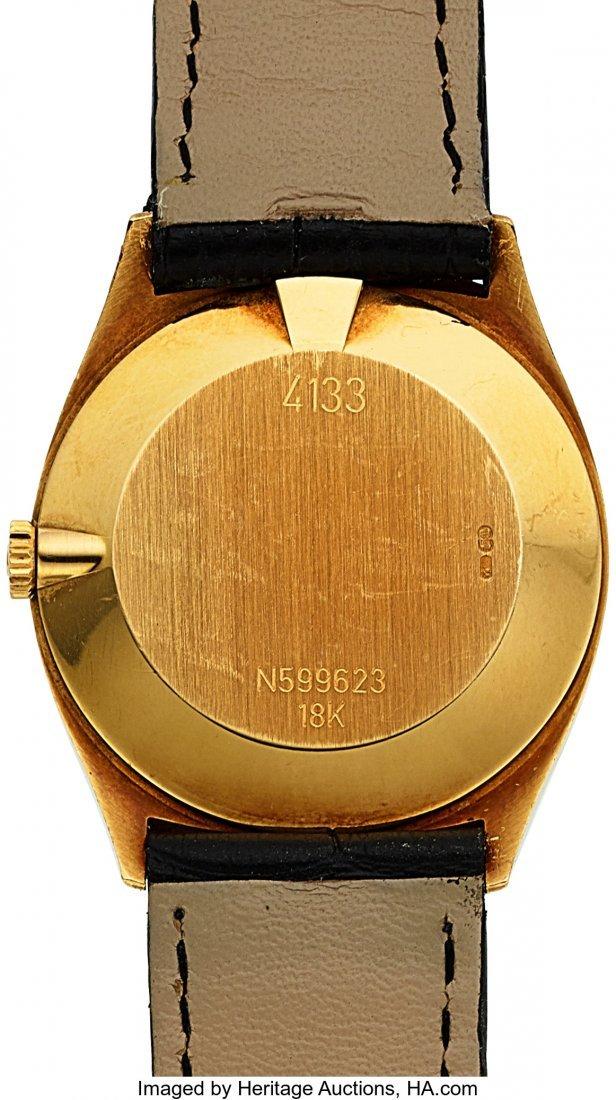54021: Rolex Ref. 4133 Gold Cellini With Enamel Dial  C - 2