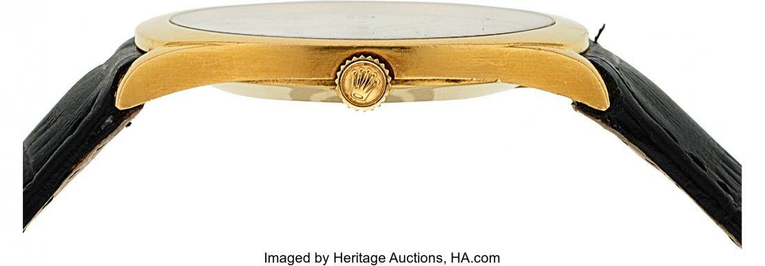 54021: Rolex Ref. 4133 Gold Cellini With Enamel Dial  C - 3
