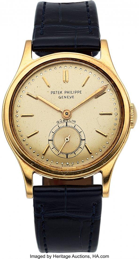 54277: Patek Philippe, Ref. 2451J, 18k Gold Calatrava,