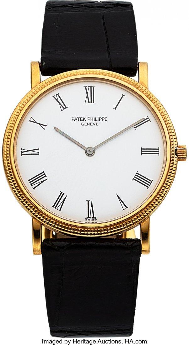 54279: Patek Philippe Ref. 3520/D Gent's 18k Gold Calat
