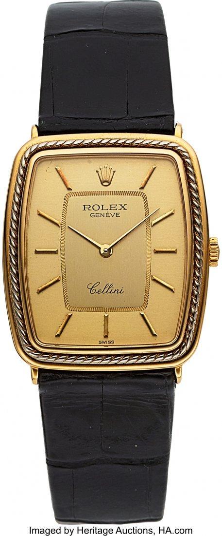 54026: Rolex Cellini Gent's 18k Gold Wristwatch, circa