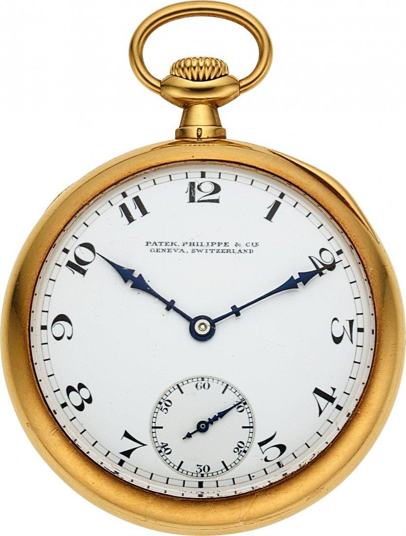 54375: Patek Philippe & Co. Gold Pocket Watch & Chain
