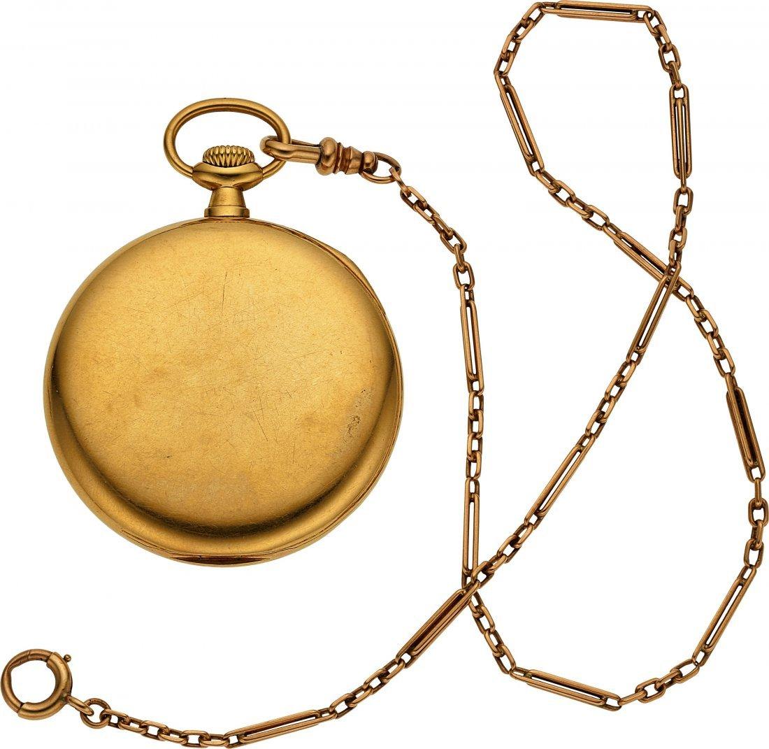 54375: Patek Philippe & Co. Gold Pocket Watch & Chain   - 2