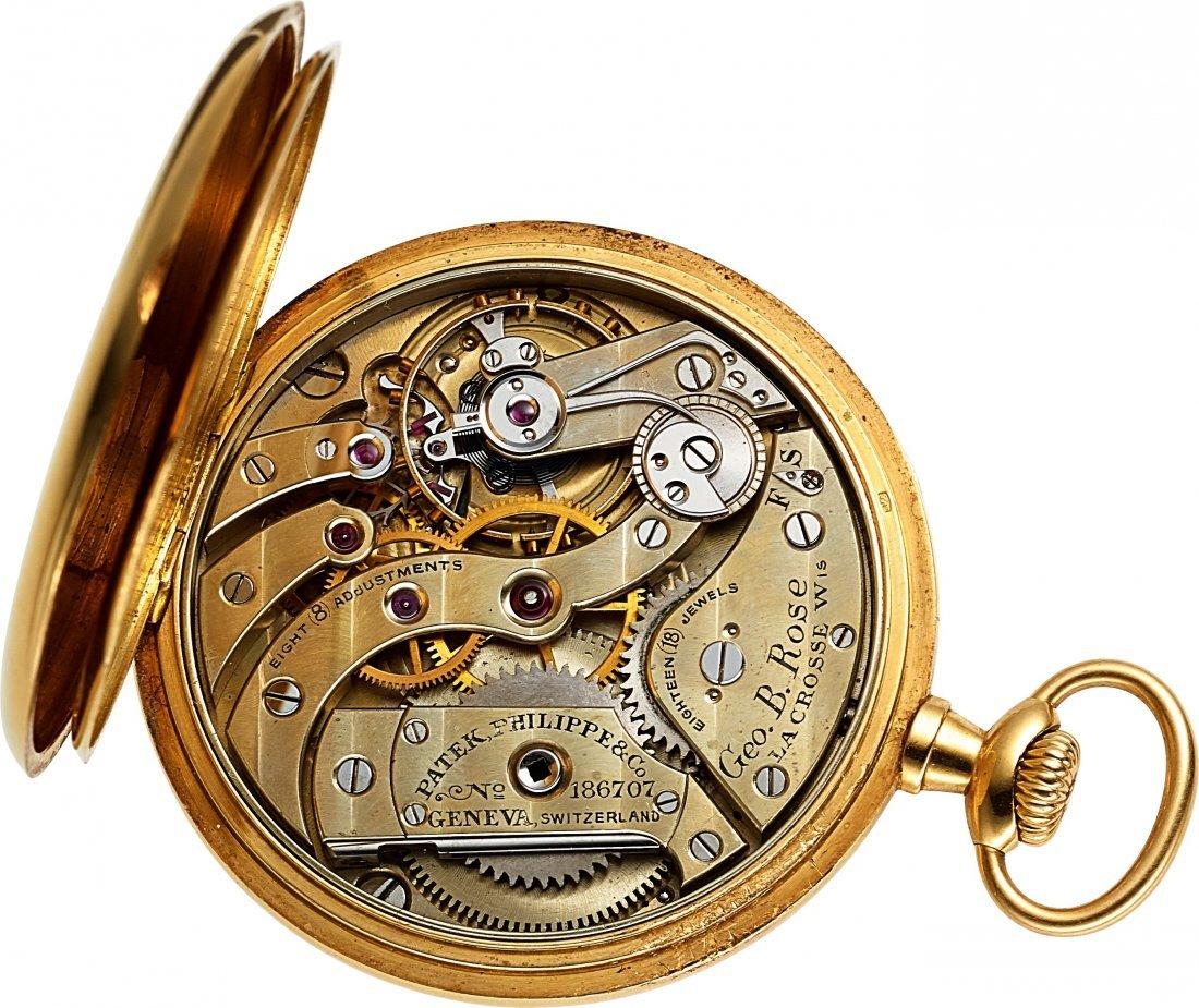 54375: Patek Philippe & Co. Gold Pocket Watch & Chain   - 3