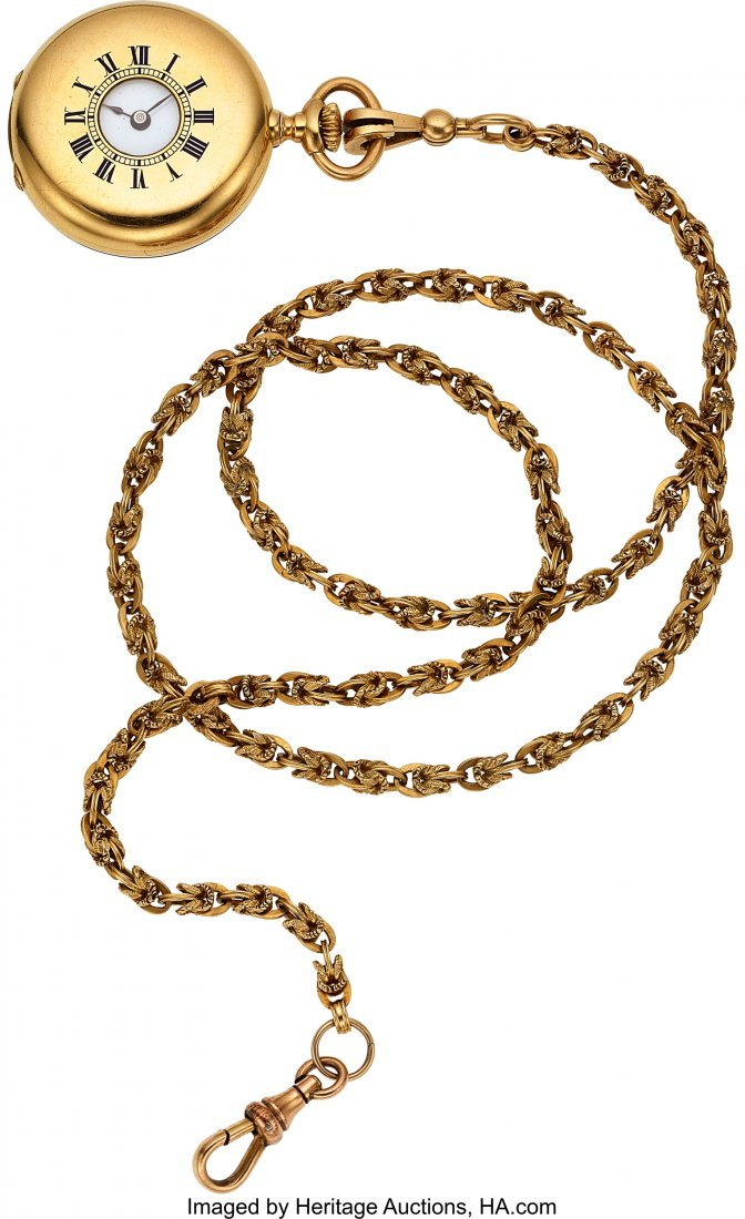 54376: Patek Philippe & Co. 33 mm 18k Gold Lady's Demi-
