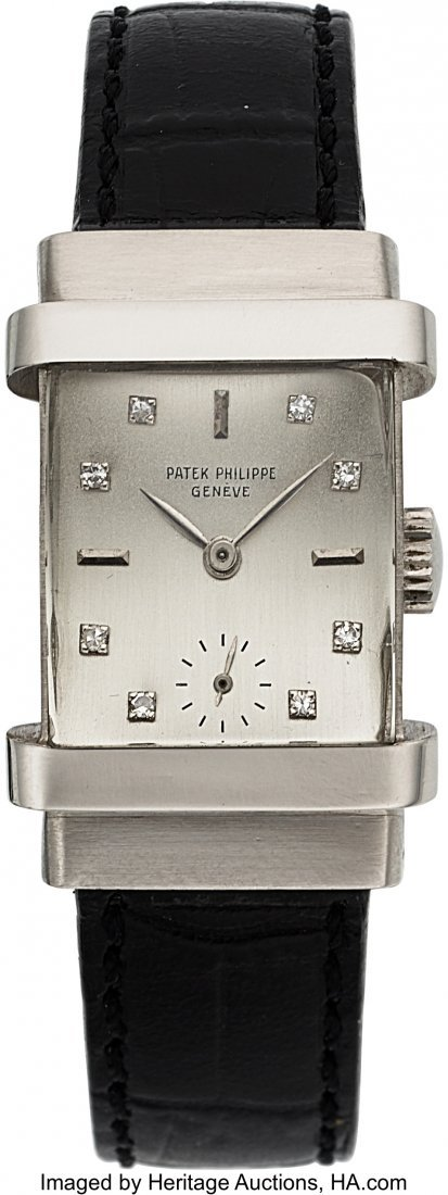 "54285: Patek Philippe, Ref. 1450, Platinum ""Top Hat"", D"