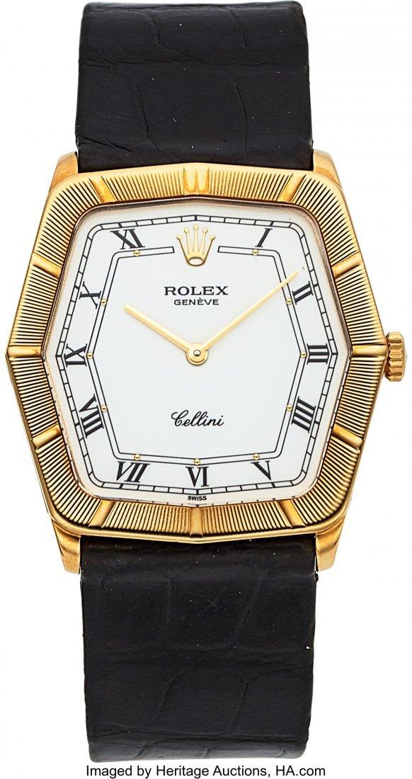 54030: Rolex Cellini Ref. 4170 Yellow Gold Wristwatch