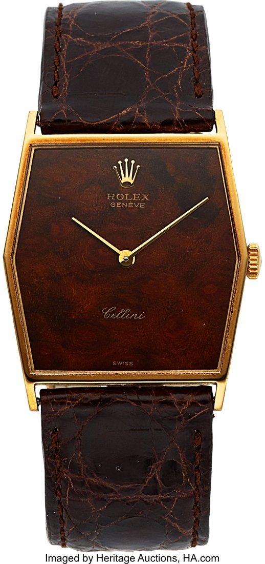 54031: Rolex Cellini Ref. 4122 Gent's Gold Wristwatch,