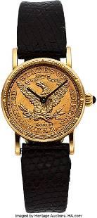 54117 Corum Ladies Gold US 5 Dollar Coin Watch Case