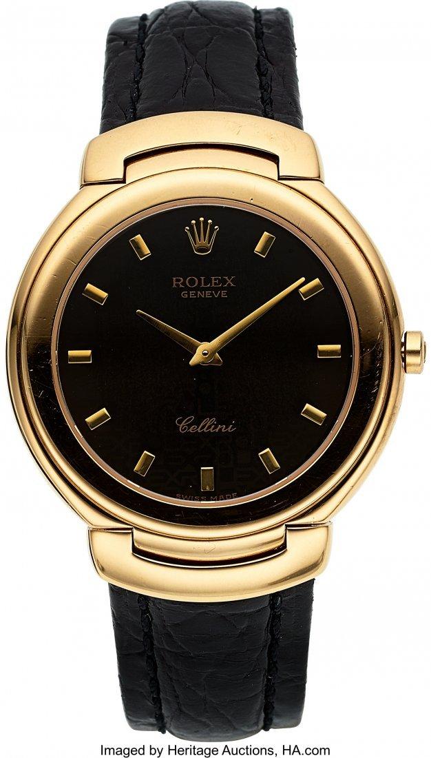 54034: Rolex Cellini Ref. 6623 Gent's Yellow Gold Wrist