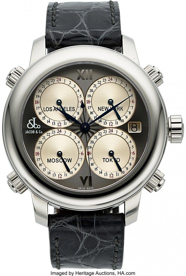 54213: Jacob & Co, H24-Icon, 5 Timezone Automatic Wrist
