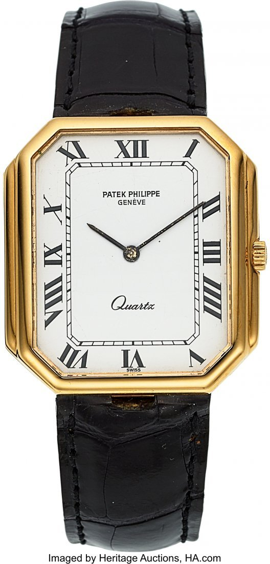 54038: Patek Philippe Ref. 3853 Yellow Gold Wristwatch,