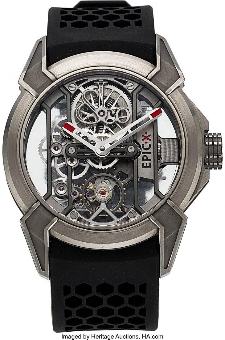 54215: Jacob & Co, Epic X, Titanium Open-Work Wristwatc