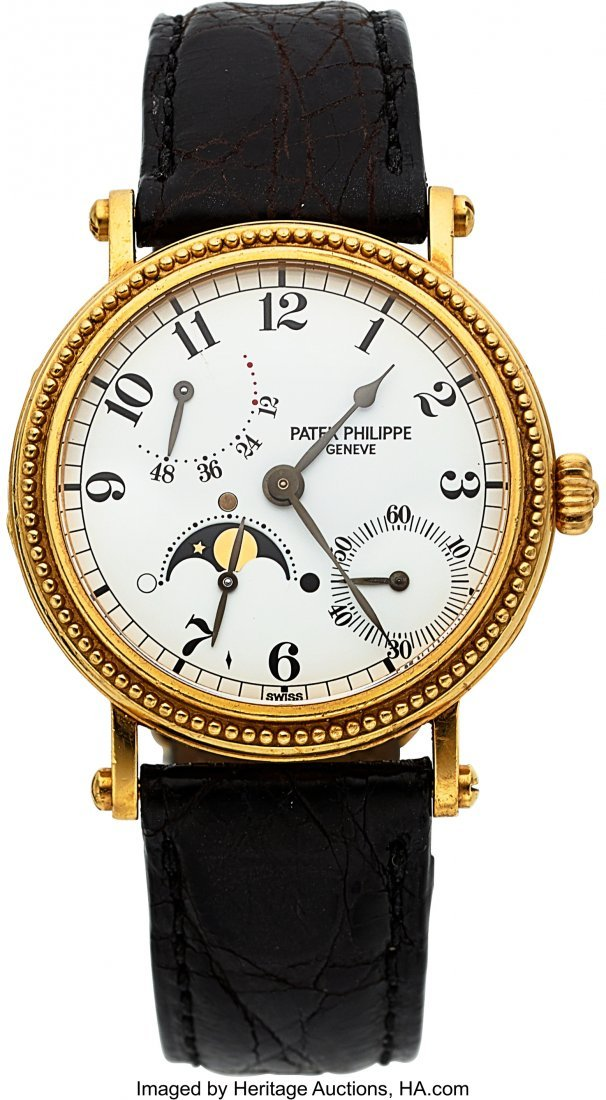 54299: Patek Philippe Ref. 5015 Yellow Gold Automatic W