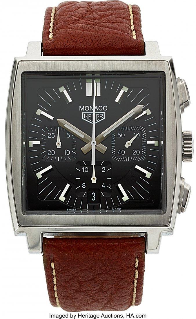54130: Tag Heuer Monaco Steel Automatic Chronograph  Ca