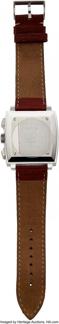 54130: Tag Heuer Monaco Steel Automatic Chronograph  Ca - 3