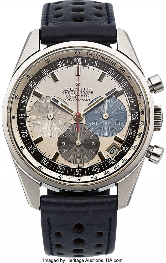 54228: Zenith, Ref: A386, El Primero Chronograph, Circa