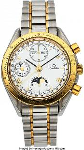 54051 Omega Ref 1750034 Steel Gold Automatic Chron
