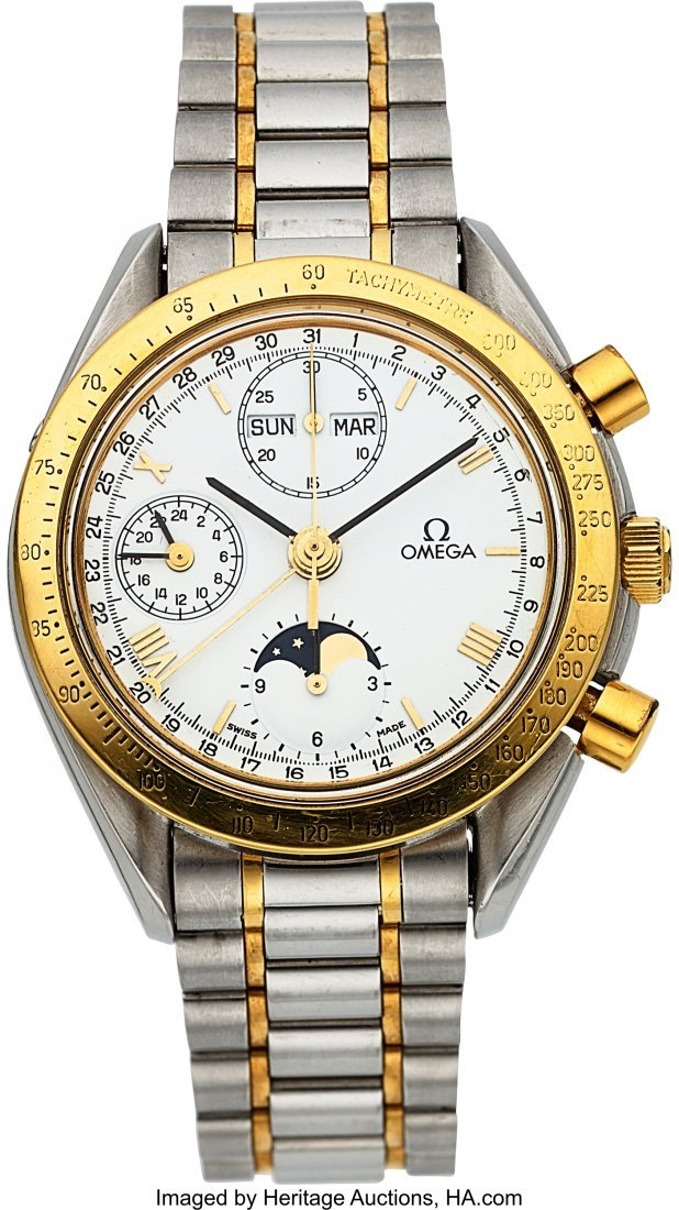 54051: Omega Ref. 175.0034 Steel & Gold Automatic Chron