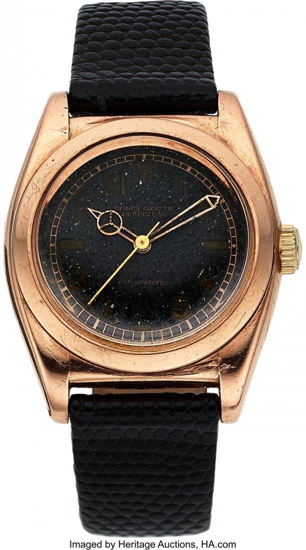 54140: Rolex, Ref. 3696, Steel & Rose Gold Bubbleback,