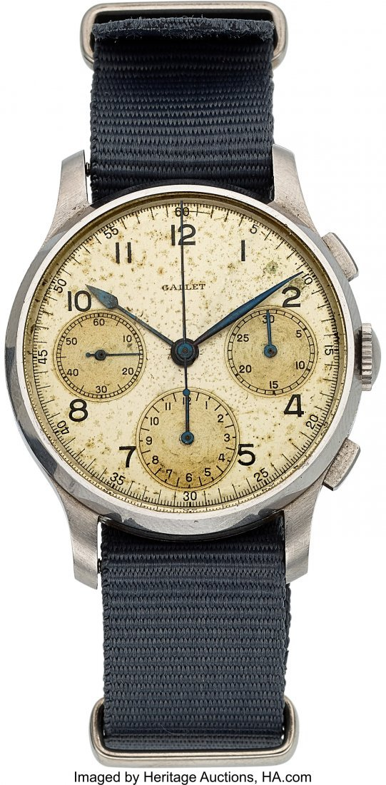54247: Gallet, Val. 22, Three Register Chronograph, Cir