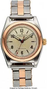 54148 Rolex Ref 3133 Rose Gold Steel Bubbleback ci
