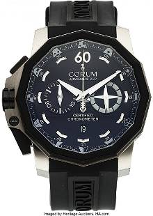 54065 Corum Admirals Cup 50 Left Hand Sided Chronograp