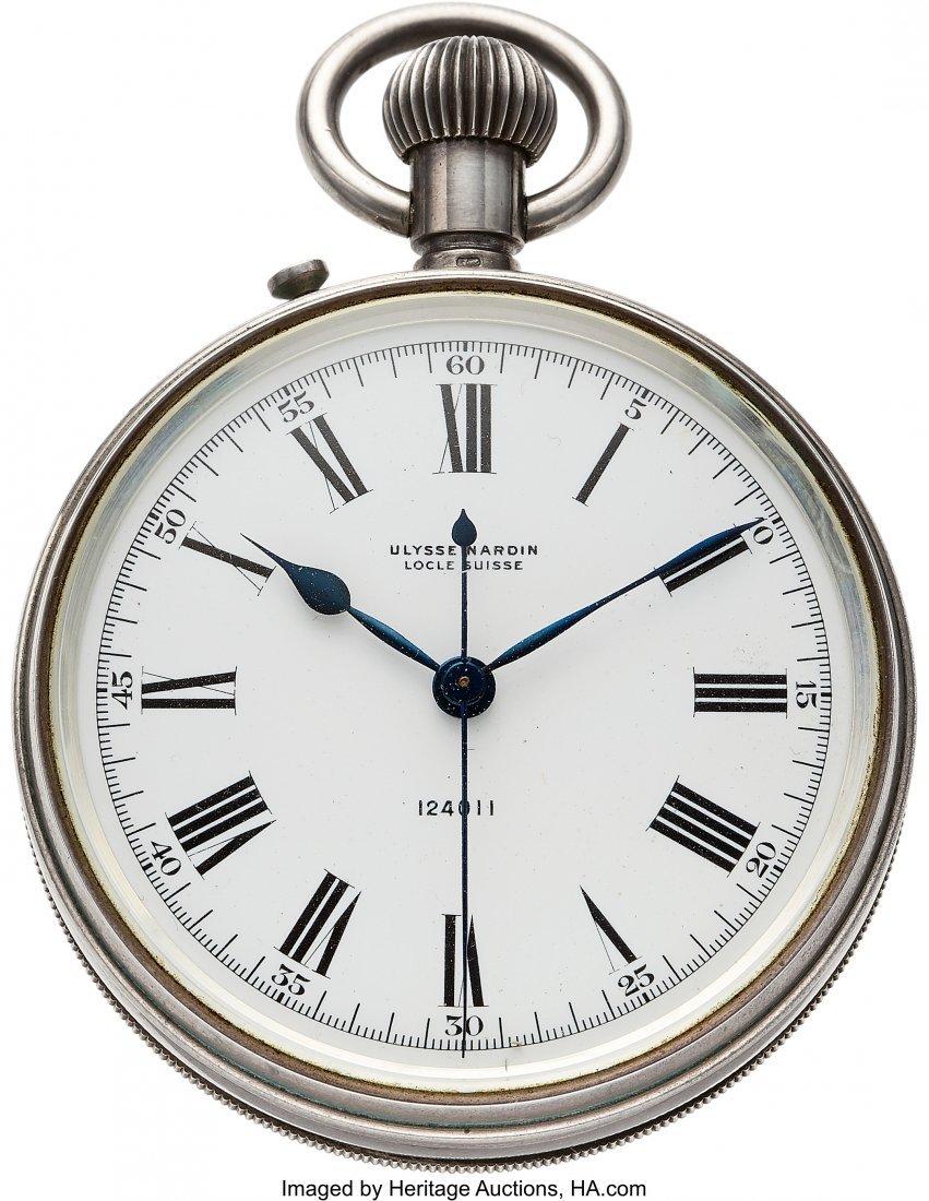 54422: Ulysse Nardin Sterling Deck Watch  Case: sterlin