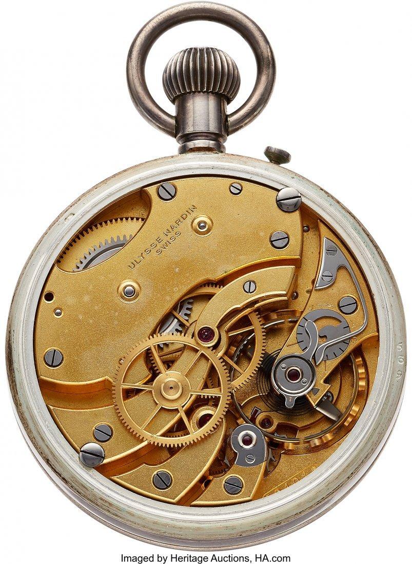 54422: Ulysse Nardin Sterling Deck Watch  Case: sterlin - 2