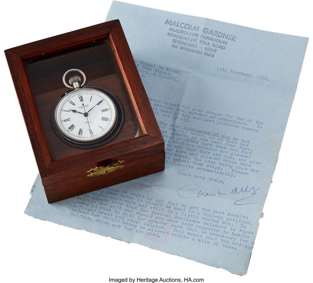 54422: Ulysse Nardin Sterling Deck Watch  Case: sterlin - 4