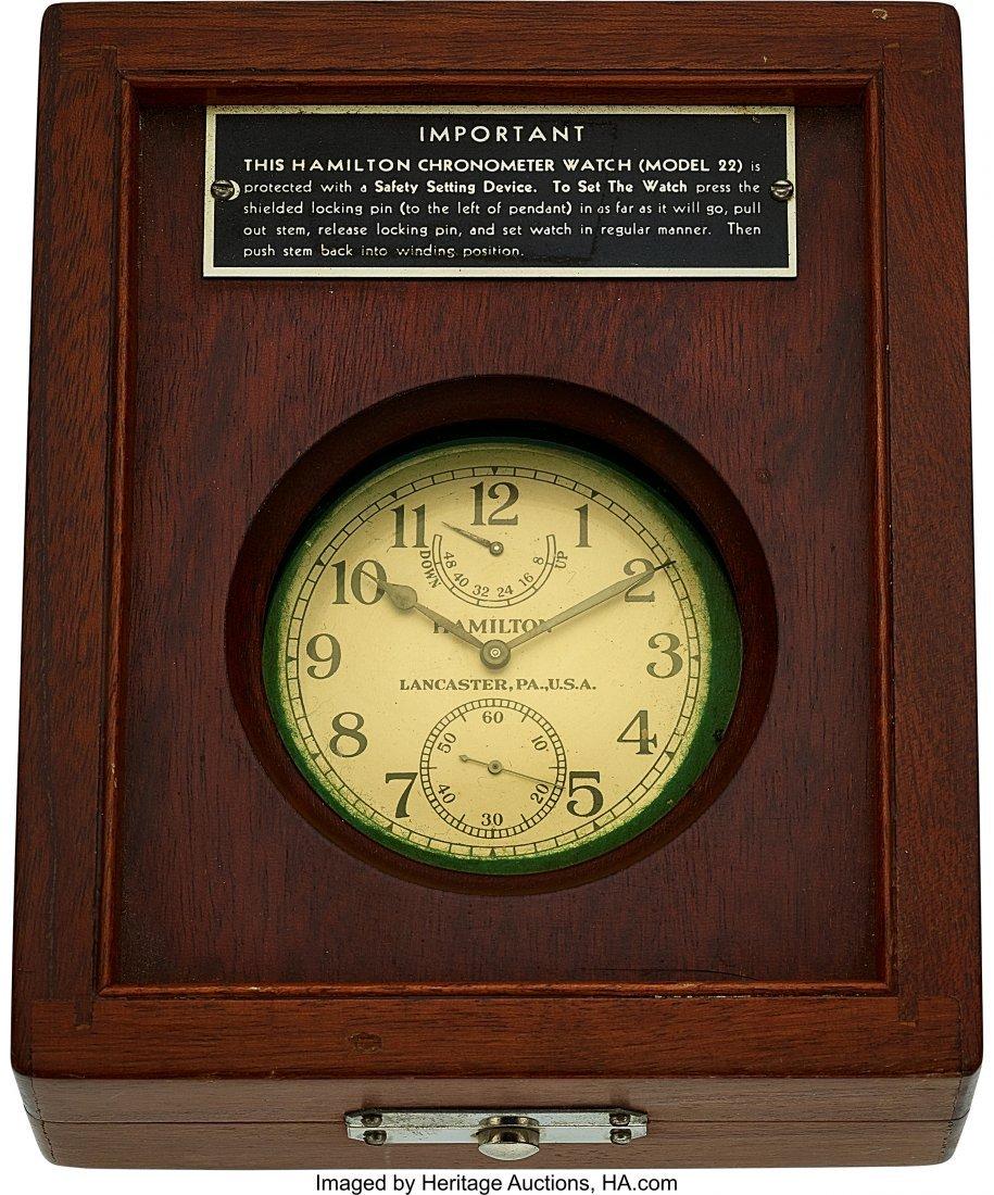 54423: Hamilton Model 22 U.S. Navy Chronometer Deck Wat