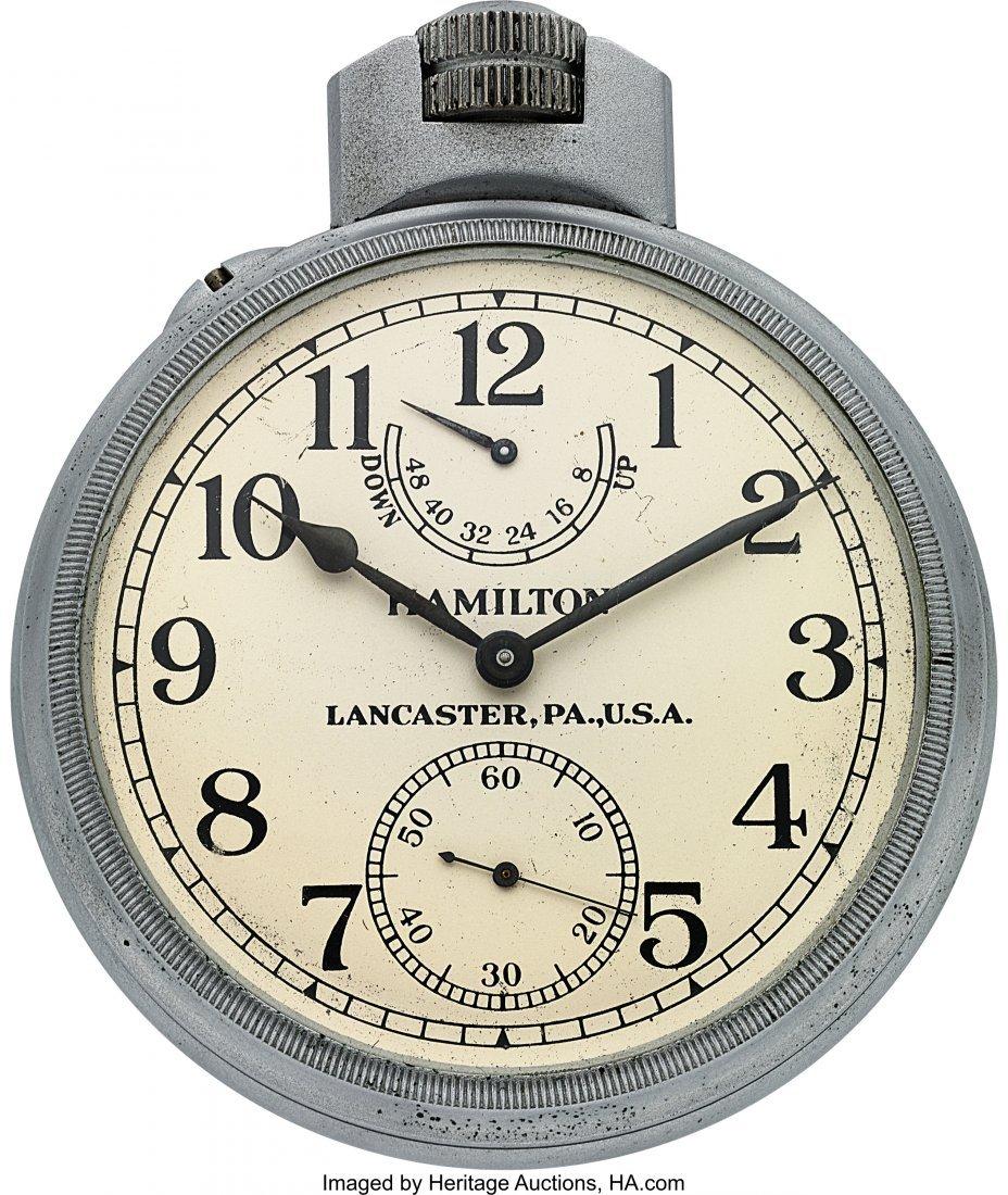 54423: Hamilton Model 22 U.S. Navy Chronometer Deck Wat - 2