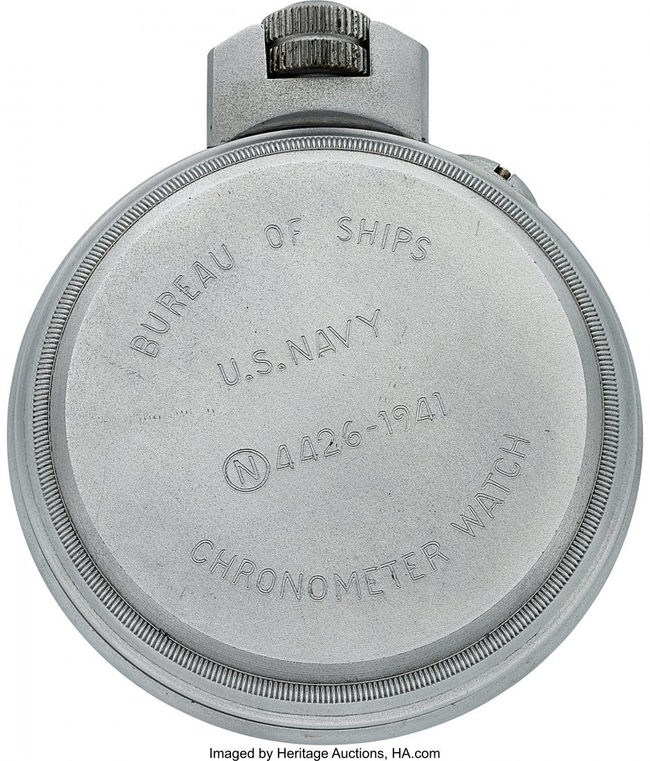 54423: Hamilton Model 22 U.S. Navy Chronometer Deck Wat - 3