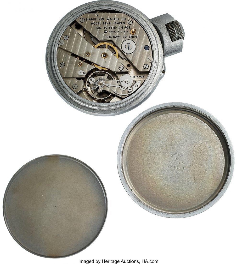 54423: Hamilton Model 22 U.S. Navy Chronometer Deck Wat - 4
