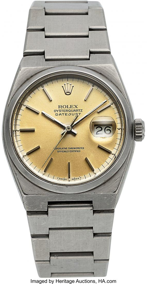 54153: Rolex Oysterquartz Ref: 17000 B, Circa 1980 Cas
