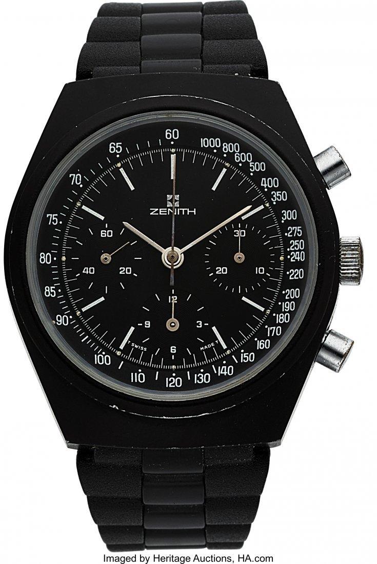 54255: Zenith-Movado, PVD Chronograph, Circa 1970's  Ca