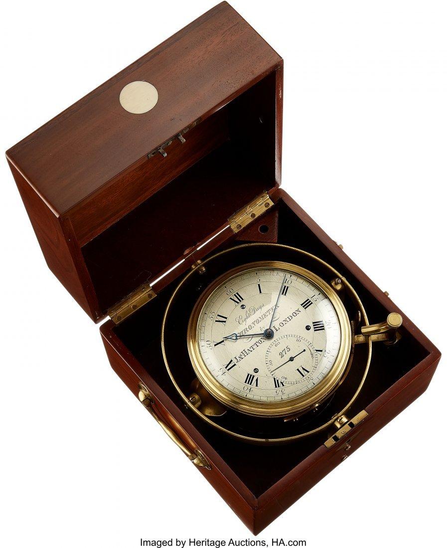 54427: James Hatton London Rare Eight Day Marine Chrono