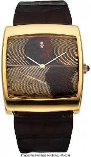 54071 Corum 18k Gold Pheasant Feather Dial Bucking