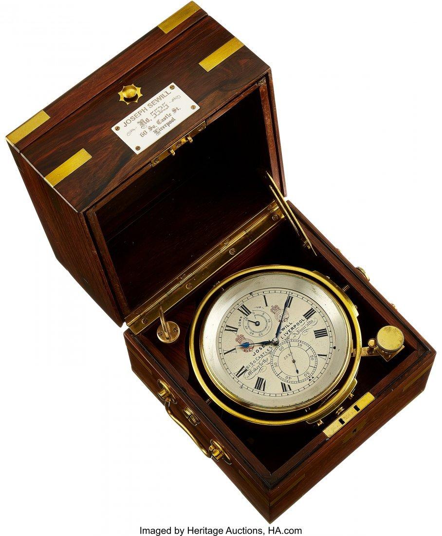 54431: Joseph Sewill Liverpool Two Day Marine Chronomet