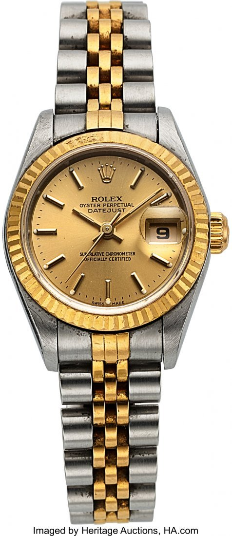 54161: Rolex Ref: 79173 Steel and Gold Ladies Datejust,