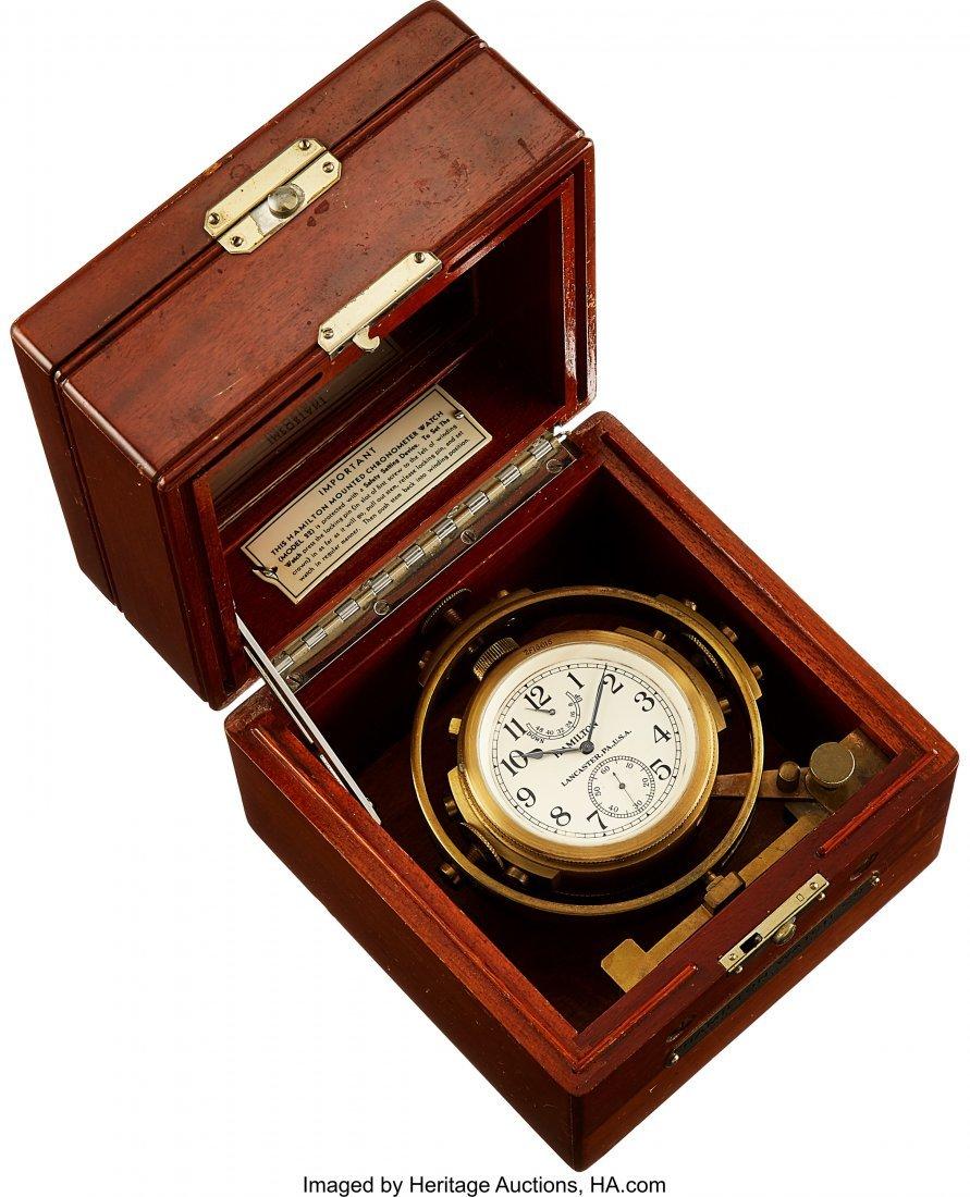 "54434: Hamilton Model 22 Deck Watch, Case Back Marked """