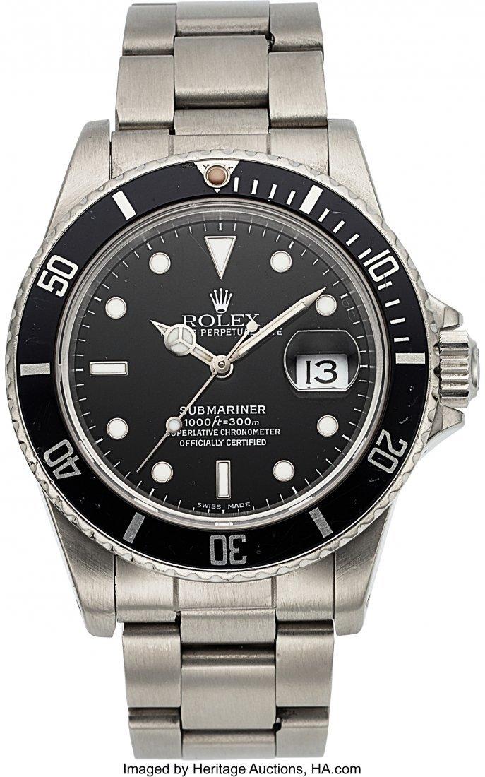 54333: Rolex, Ref.16800, Submariner, Circa 1985  Case: