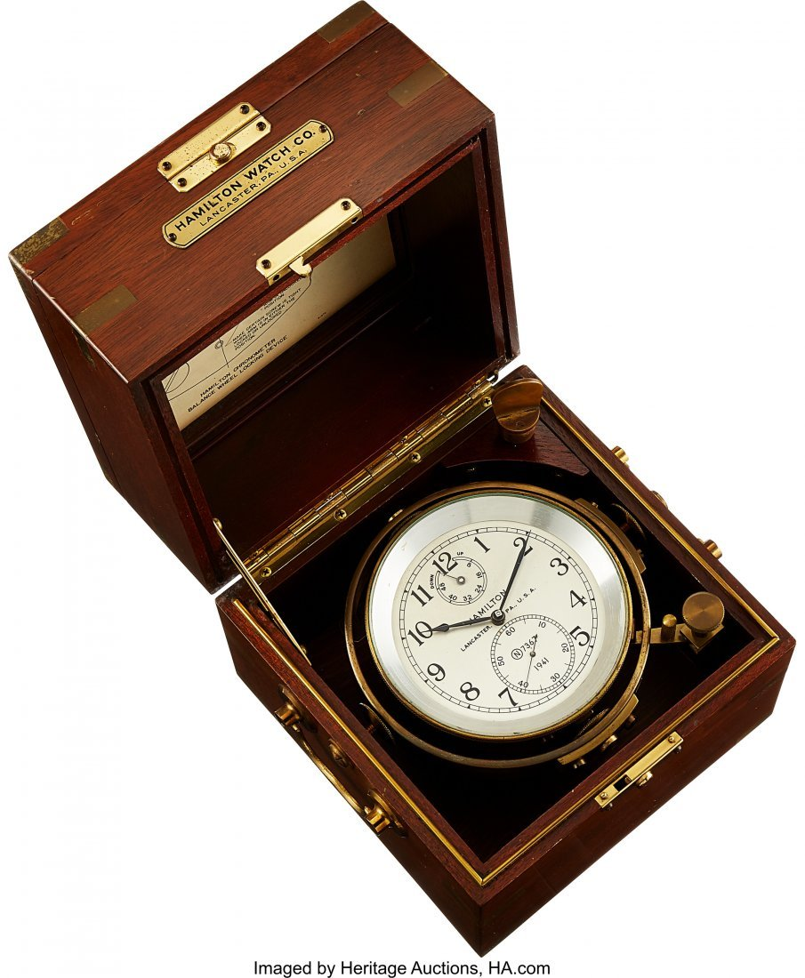 54435: Hamilton Model 21 Fusee Detent Chronometer With